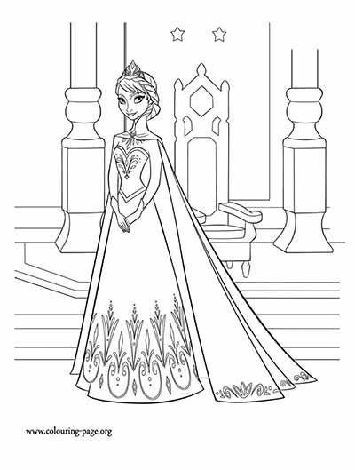 Queen Elsa Frozen Coloring Pages