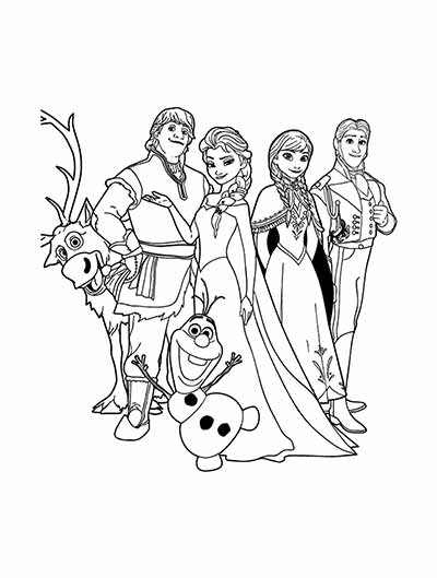 UPDATED] 101 Frozen Coloring Pages + Frozen 2 Coloring Pages
