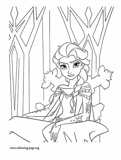 Elsa Frozen Coloring Pages