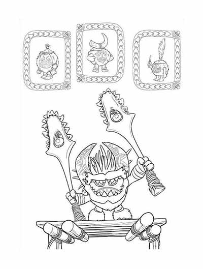 Kakamora Coloring Pages from Moana