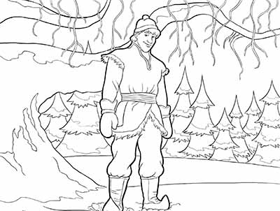Kristoff Coloring Pages from Frozen
