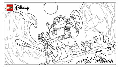Leog Coloring Pages from Moana