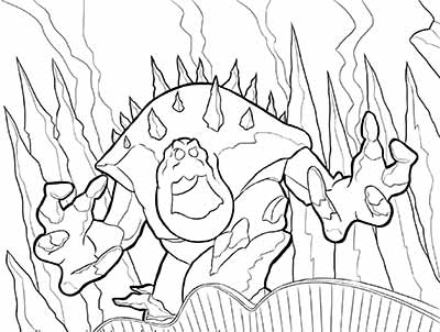 Marshmallow Monster Coloring Pages from Frozen