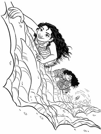 Maui Coloring Pages from Moana