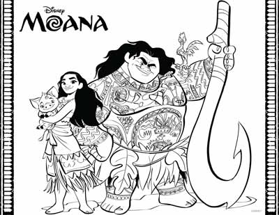 Moana and Friends Coloring Pages