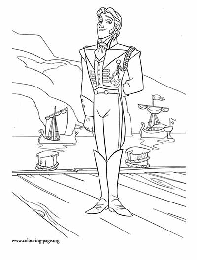Frozen Hans Coloring Pages