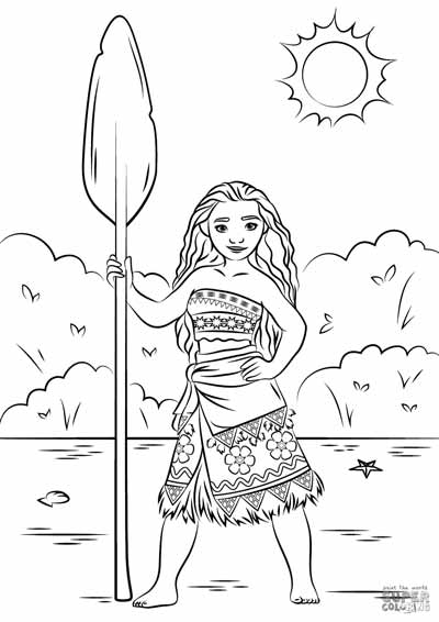 Princess Moana Coloring Pages