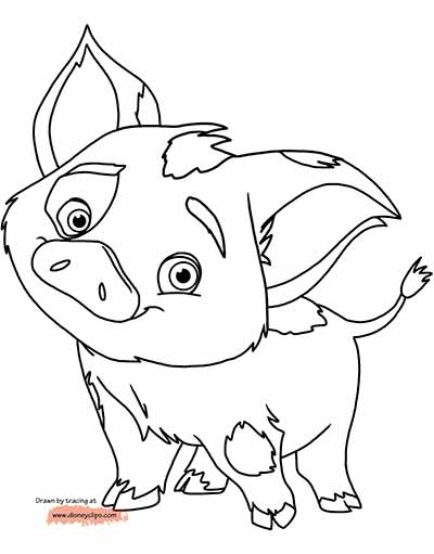 Pua Moana Coloring Pages