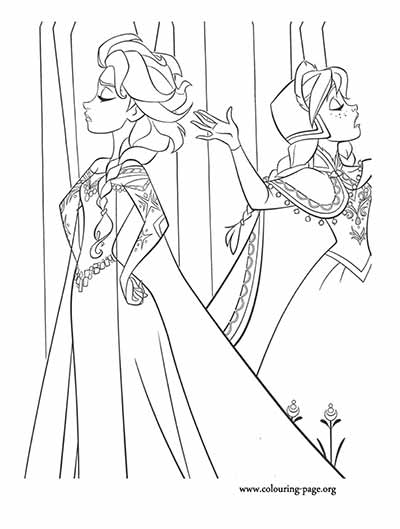 Elsa and Anna Frozen Coloring Pages