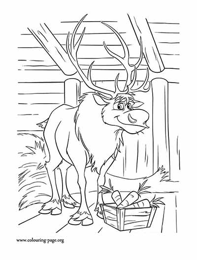 Sven Coloring Pages from Frozen