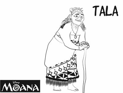 Tala Coloring Pages from Moana