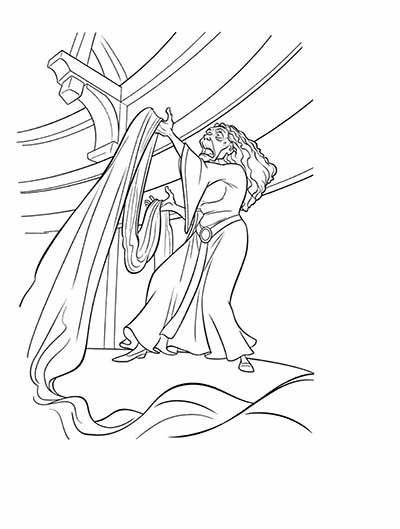 Wicked Witch Coloring Pages from Tangled