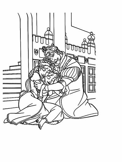 Rapunzel Family Coloring Pages