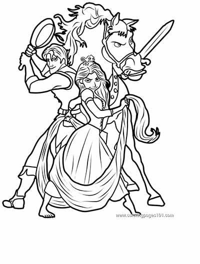 170 FREE Tangled Coloring Pages! | Tangled coloring pages ... | 529x400