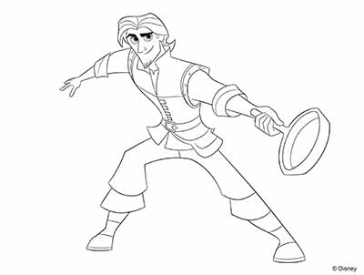Eugene Coloring Pages from Tangled