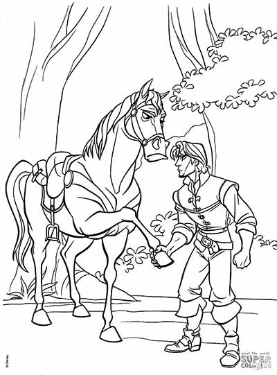 Flynn Rider Coloring Pages from Tangled