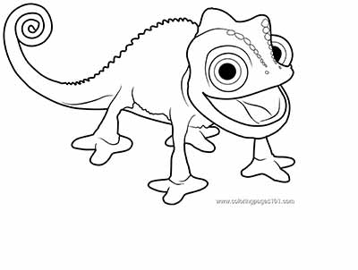 Pascal Coloring Pages from Tangled Movie