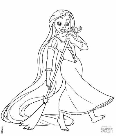 Tangled Rapunzel Coloring Pages