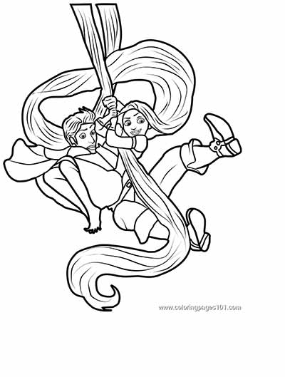 rapunzel coloring page - Tangled Printable Coloring Pages