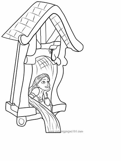 Rapunzel Coloring Sheet