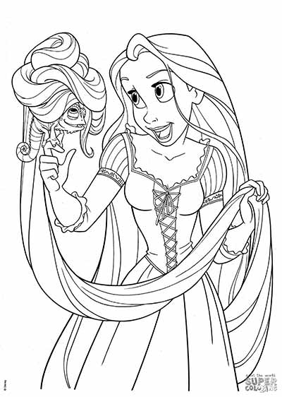170 FREE Tangled Coloring Pages (October 2018) Rapunzel Coloring Pages