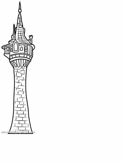 Tower from Tangled Coloring Page