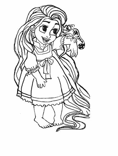 Baby Rapunzel Coloring Pages