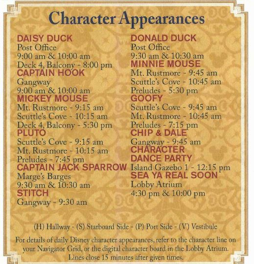 Castaway Cay Character Appearances