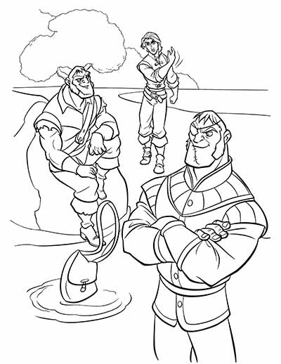 Flynn Rider Coloring Pages