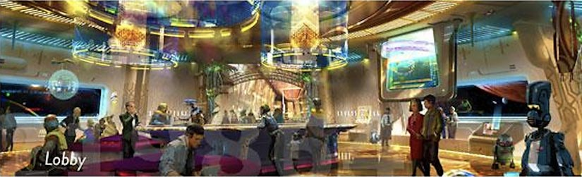 Lobby of Star Wars Resort