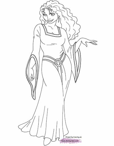 Mother Gothel Coloring Pages from Tangled