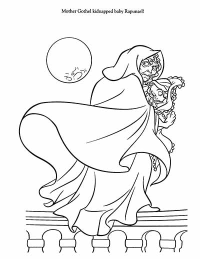 Mother Gothel Rapunzel Coloring Pages