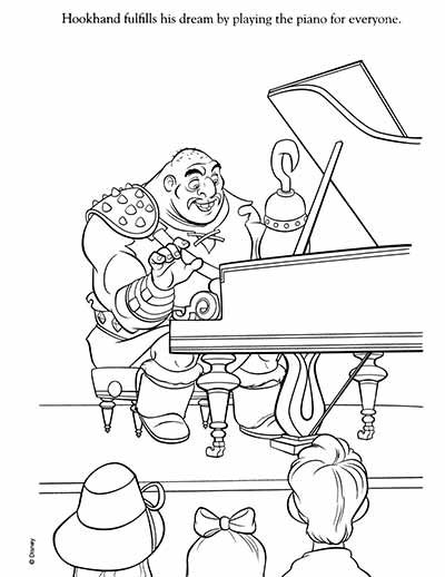 Hookhand Coloring Pages from Tangled