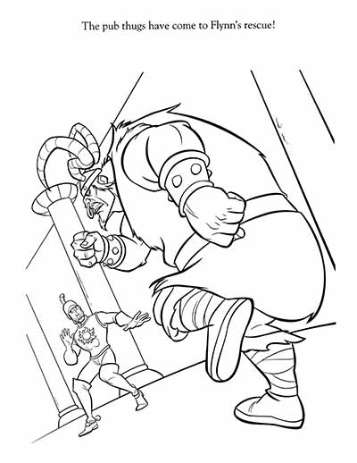 Rapunzel Friends Coloring Pages from Tangled