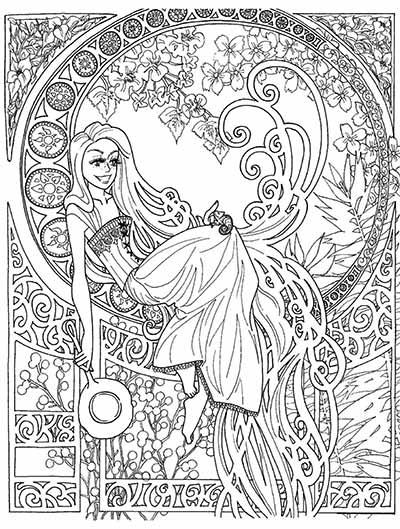 Disney Coloring Pages for Adults - Best Coloring Pages For Kids | 529x400