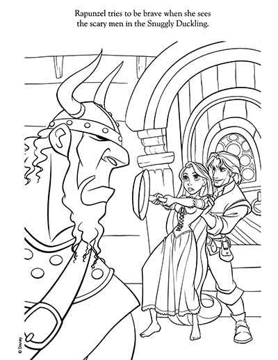 Rapunzel Coloring Pages from Tangled