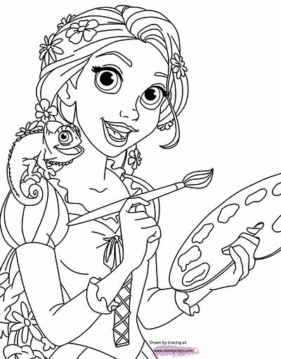 170 free tangled coloring pages march 2018 rapunzel for Tangled coloring pages