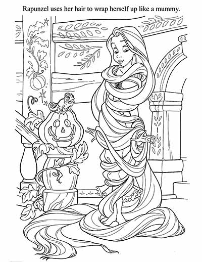rapunzel pascal coloring pages from tangled