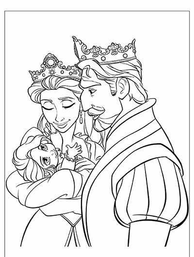 Coloring Pages from Tangled