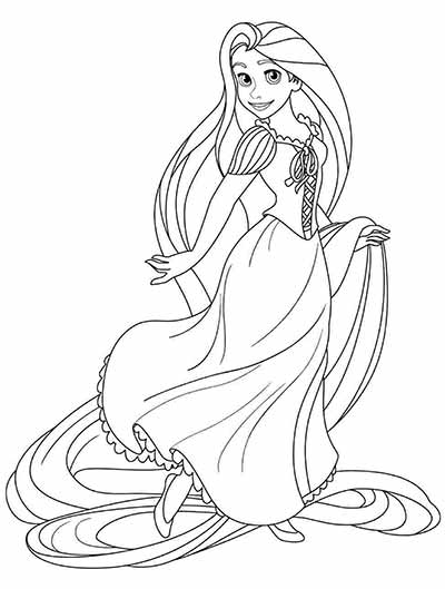 170 Free Tangled Coloring Pages February 2019