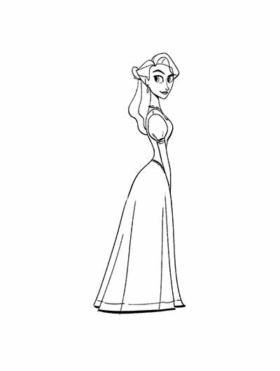 The Queen Coloring Pages from Tangled