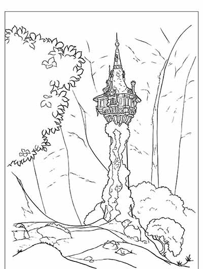 Tower Coloring Pages from Tangled