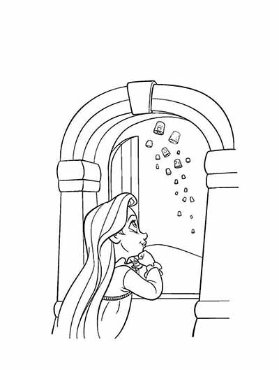 Rapunzel Coloring Page from Tangled by Disney