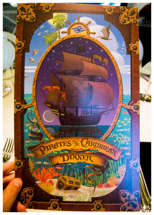 Disney Cruise Pirate Night Dinner Menu