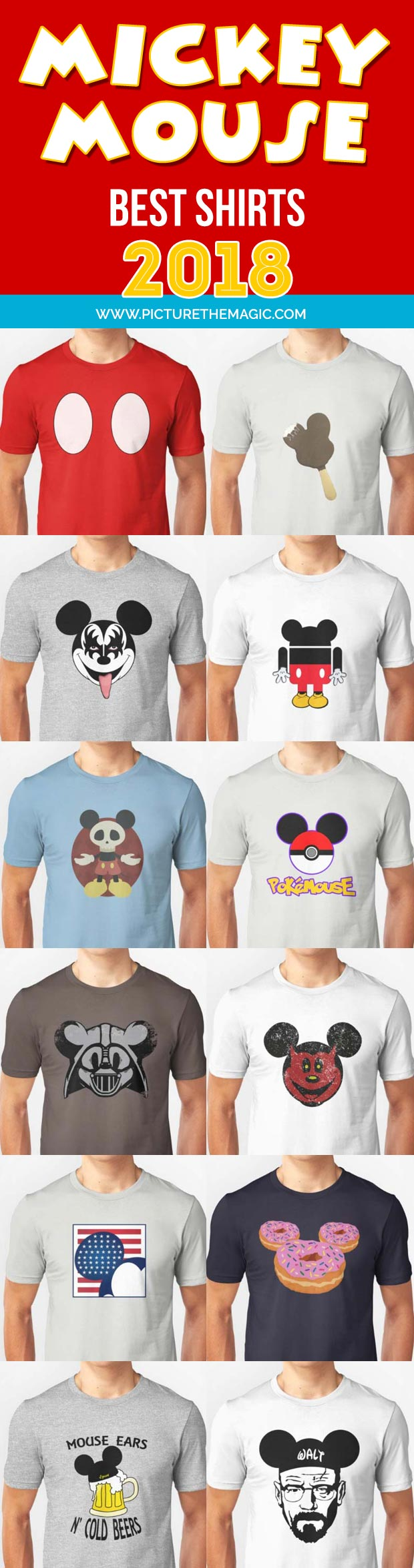 Mickey Mouse Best Shirts for 2018!