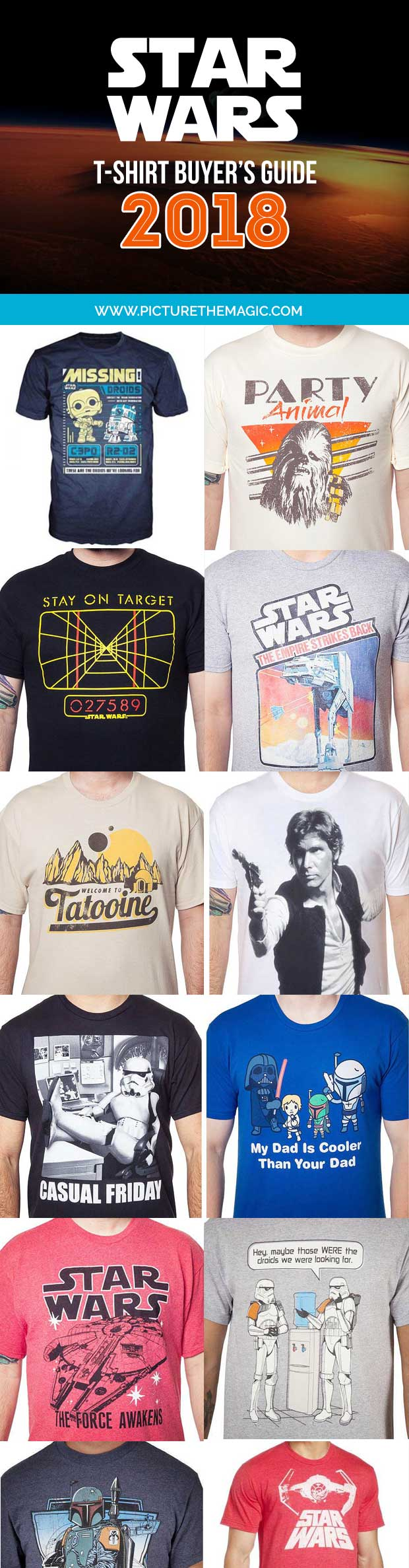 101 EPIC Star Wars T-Shirts for 2018! The best Princess Leia, Darth Vader, Yoda, Han Solo, Kylo Ren, and Chewbacca tshirts of the year.
