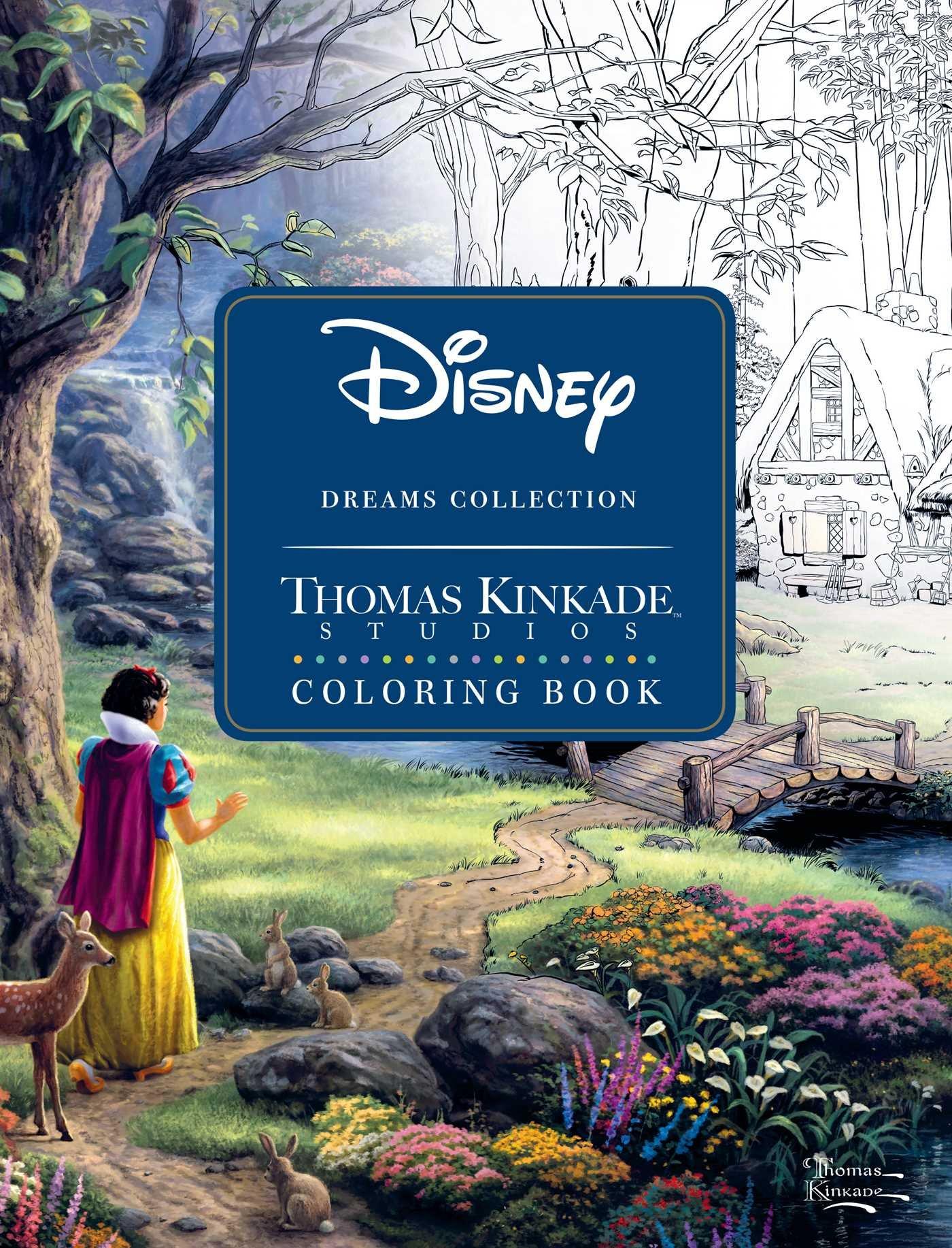 Best Thomas Kinkade Disney Coloring Book