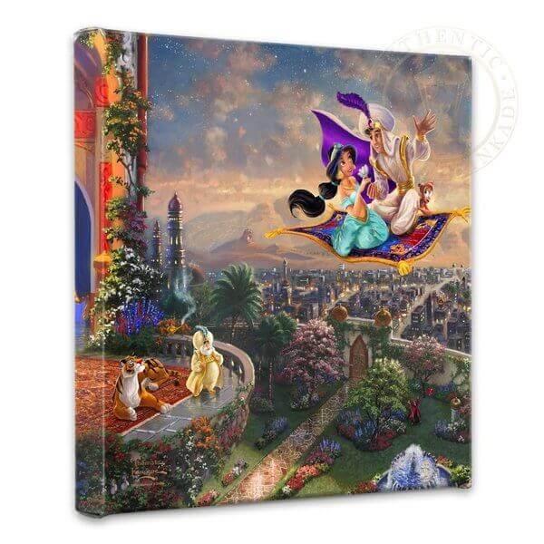 Aladdin & Jasmine: Thomas Kinkade Disney Print