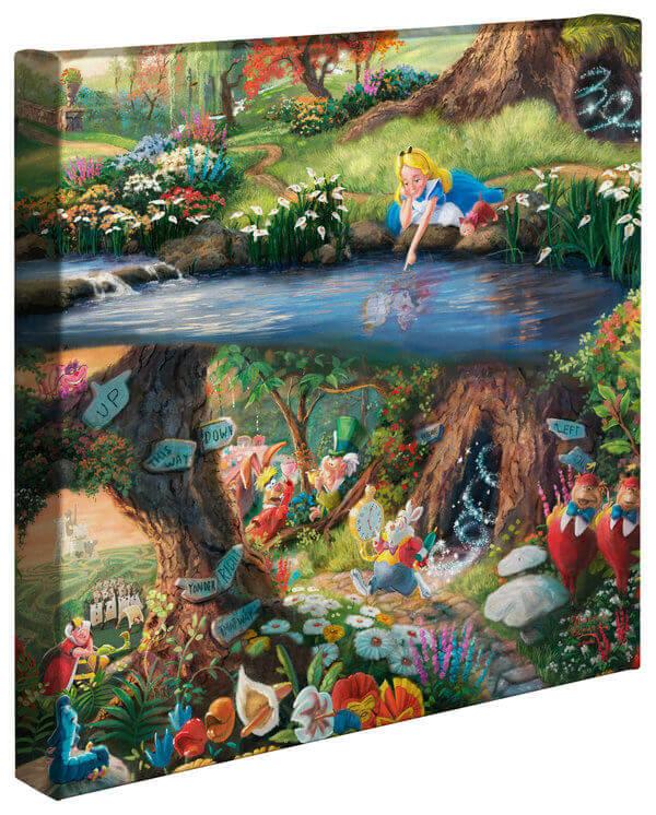 Alice in Wonderland: Thomas Kinkade Disney Print