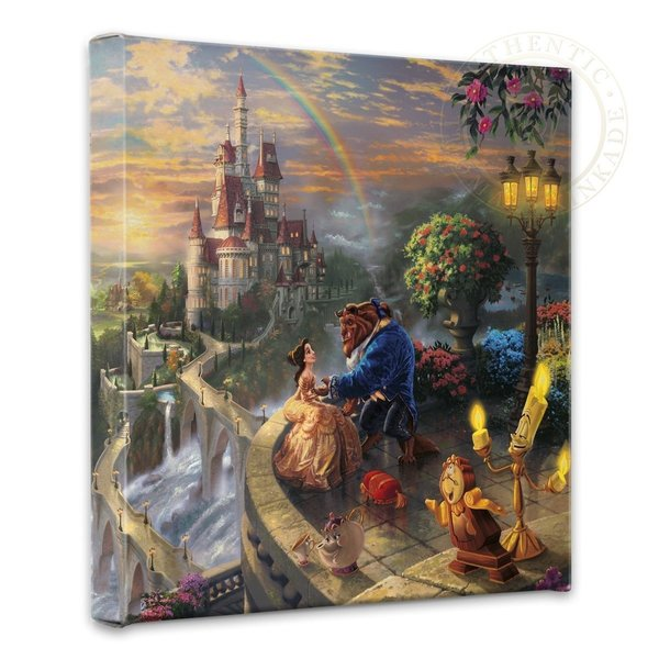 Beauty and the Beast Thomas Kinkade Disney Print